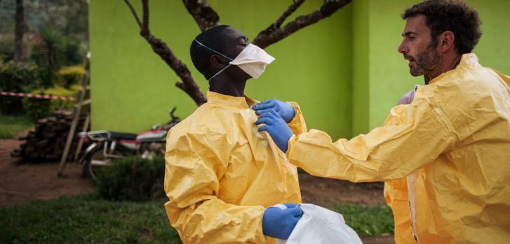 Casos de ébola en Uganda
