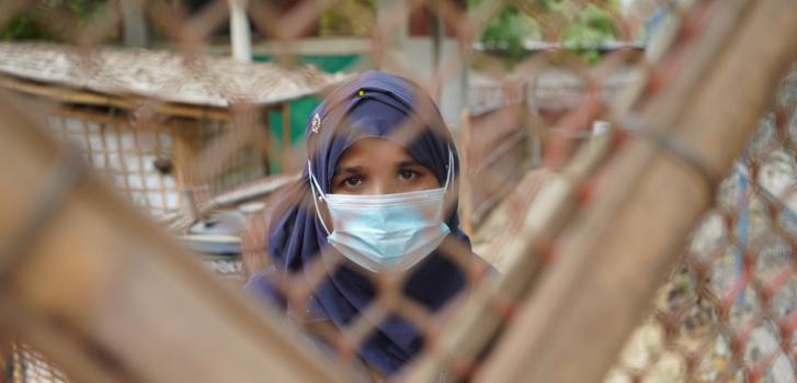 Voluntaria rohingya que ayuda a MSF en su relación con la comunidad.