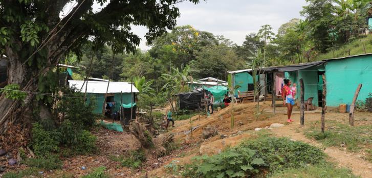 Asentamiento el Divino Niño, en La Gabarra, Norte de Santander. Febrero de 2021.