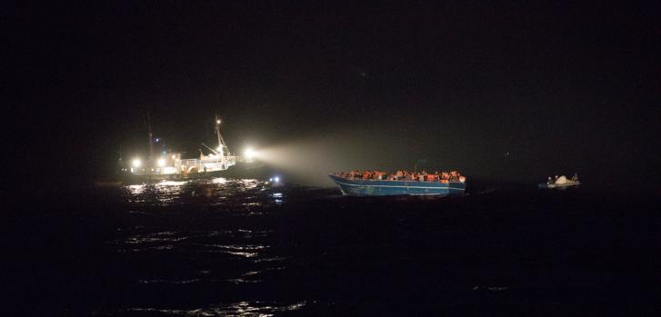 Operación de búsqueda y rescate en el Mar Mediterráneo