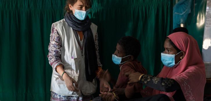 Carla Pla, enfermera española en Moynarghona. ©Anna Surinyach
