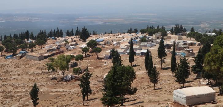 Un campo de desplazados, en el noroeste de Siria.