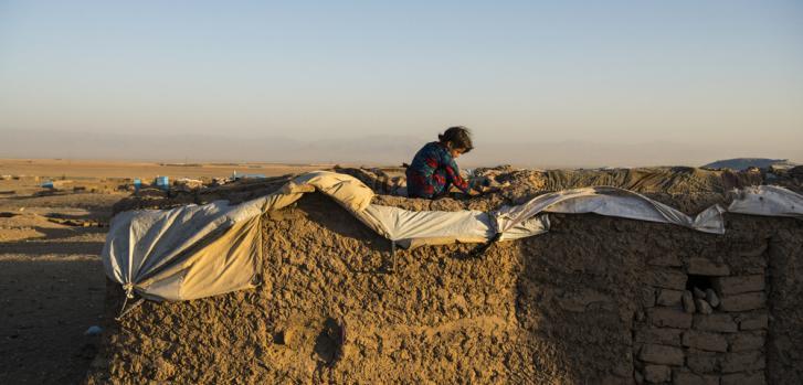 Campo para personas desplazadas en las afueras de Herat. Afganistán, agosto de 2019