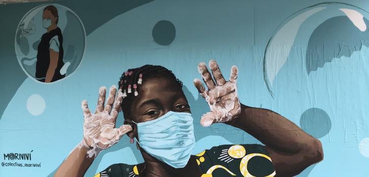 En Puerto Rico, Médicos sin Fronteras y socios locales llevaron a cabo campañas de promoción de la salud que se centran en el lavado de manos, uso de tapabocas y distanciamiento físico.