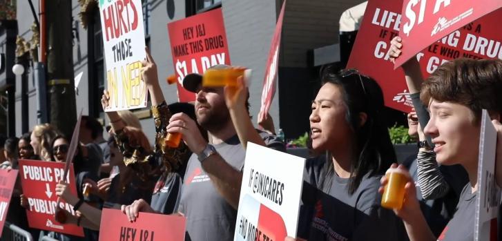 Protesta contra Johnson & Johnson