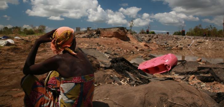 Un mes del ciclón Idai en Mozambique