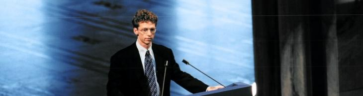 James Orbinski, presidente internacional de MSF, en su discurso de aceptación del Premio Nobel de la Paz en Oslo, 1999.