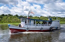 Nuestra clínica móvil viajó durante 8 días por el Río Anapú, en la región amazónica de Pará. Logramos visitar 8 comunidades y atender 390 pacientes. Brasil, julio de 2021