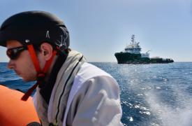 El barco Bourbon Argos en el Mar Mediterráneo