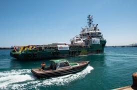 El barco MY Bourbon Argos zarpó de Sicilia en mayo con un equipo de MSF a bordo. © Gabriele François Casini
