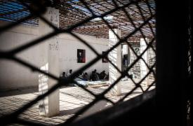 Centro de detención para migrantes y refugiados Libia