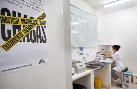 Laboratorio del hospital en Boquerón, Chaco paraguayo. ©MSF/Anna Surinyach 2012