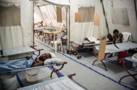 Centro de tratamiento de cólera de MSF en Puerto Príncipe