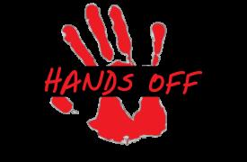 Logo campaña global de Médicos Sin Fronteras (MSF) #HandsOffOurMeds Leyes de patentes indias