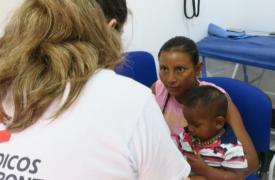 Atención a migrantes venezolanos en Colombia.