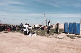 Clínica móvil al aire libre de Médicos Sin Fronteras en Sangur, al sur de Kirkuk, Irak.