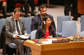 Presidenta Internacional de Médicos Sin Fronteras (MSF) en el Consejo de Seguridad de la ONU  ©Paulo Filgueiras