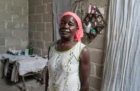 Sobreviviente del ciclón Idai en Mozambique