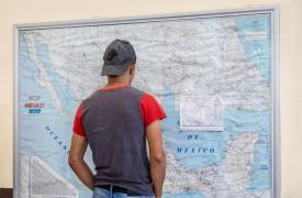 Ruta de migrantes en México a Estados Unidos