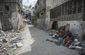 Gaza, entre el alivio y el pesimismo. Beit Hanoun, uno de los barrios de Gaza más castigados por los bombardeos.