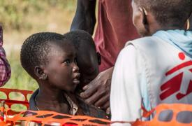 Proyecto de Médicos Sin Fronteras (MSF) contra la malaria en Sudán del Sur en 2014