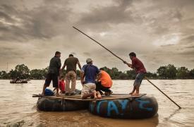 Frontera entre México y Guatemala: el comienzo del viaje para los migrantes centroamericanos que intentan llegar a los Estados Unidos.