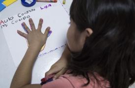 Niños y niñas de México vulnerables en Acapulco.
