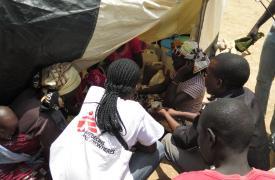 Actividades de Médicos Sin Fronteras en Minawao, el campo de refugiados de quiénes huyen de la violencia de Boko Haram