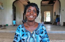 Foto de Beatrice Yardolo, última sobreviviente de Ébola en Liberia © Adolphus Mawolo/MSF