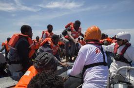 El primer rescate de MSF en 2016 en el Mediterráneo Central