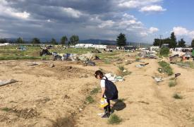 Evacuación del campo de Idomeni en Grecia, 24 de mayo de 2016