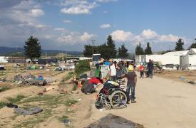 Desalojo de campo de Idomeni ©Amir Karimi/MSF