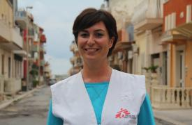 Aurelia Barbieri, psicóloga italiana de Médicos Sin Fronteras (MSF)
