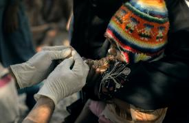 En octubre y noviembre de 2017 MSF realizó una intervención para atender a los pacientes de malaria e implementar medidas de prevención ©Ehab Zawati/MSF