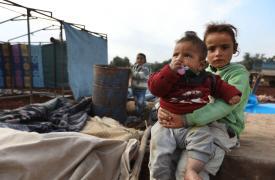 Niños desplazados en el noreste de Siria