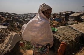 Un refugiado rohingya en el campamento improvisado de Jamptoli.