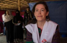 Kate Nolan, coordinadora de emergencia de Médicos Sin Fronteras (MSF) en Bangladesh. ©Anna Surinyach