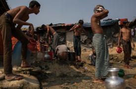 Asentamiento en Jamtoli, Bangladesh.