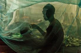 Los mosquiteros se colocan para evitar cualquier picadura y reducir el riesgo de malaria.