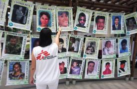 Acto por las desapariciones forzadas en la Universidad de Santiago de Cali.