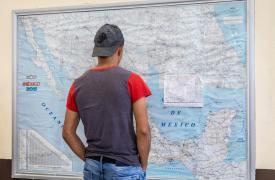 Los equipos de MSF trabajan en el refugio Casa Migrante Guadalupe, en Reynosa, Tamaulipas, ofreciendo servicios de atención primaria de salud, salud mental y trabajo social a migrantes, refugiados y personas deportadas recientemente de EE.UU. (2018)