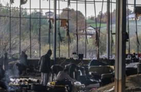 La vida diaria en uno de los asentamientos cerca de Velika Kladusa, donde se encuentran los migrantes y solicitantes de asilo.