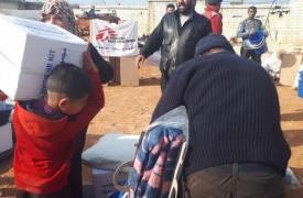 Desde el 1 de diciembre, los equipos de Médicos Sin Fronteras distribuyeron artículos de primera necesidad para los desplazados en diferentes lugares de la provincia de Idlib, en Siria.