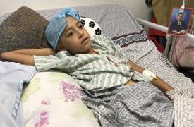 Roiber, un niño de 11 años que recibió un disparo en la cabeza. La violencia sigue siendo generalizada en muchos barrios de la capital.