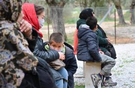 Adaptamos nuestras actividades para responder al COVID-19 enel campo de Moria, Grecia.
