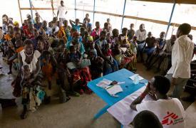 Pacientes en un centro médico de Médicos Sin Fronteras en Sudán del Sur Eric Mitjans Serveto/MSF
